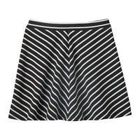 Girls Joey B Textured Knit A-line Skater Skirt Black White Size M 10 10/12