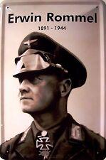 Erwin Rommel 1891 - 1944 Blechschild Schild Blech Metall Tin Sign 20 x 30 cm