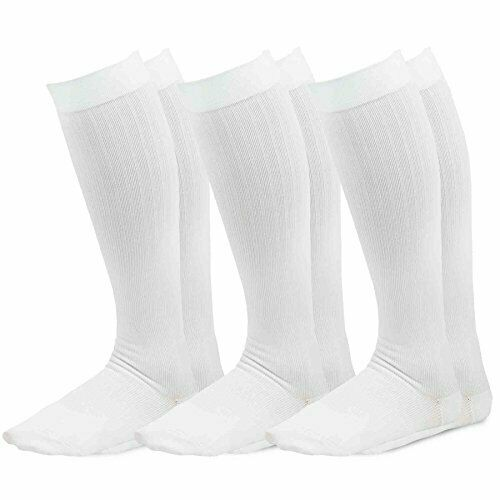 Details about  /TeeHee Microfiber Compression Knee High Socks with Rib 3-Pack