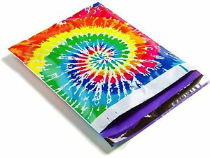 50 10x13 Tie Dye Designer Mailers Poly Shipping Envelopes Boutique Bags