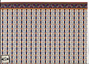 Brodnax Prints  1VT327 Coronation Victorian Era wallpaper dollhouse 1//12 scale