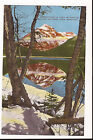 Glacier National Park MT Lake McDonald Reflections 1940s Linen Postcard