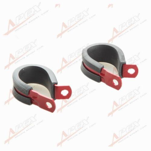 2PCS Aluminum Rubber Cushioned Clamp ID 28.6mm AN16 Vacuum Hose Red