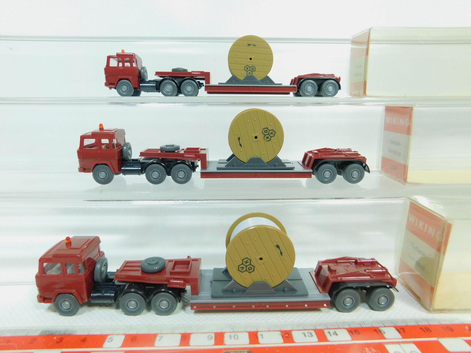 BO670-0,5  3x Wiking 1 87 503 Camión de de de Carga Baja Magirus-Deutz Vdk ,Muy Buen + 41c67d