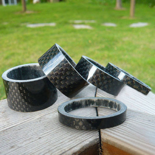 6ct Carbon Fiber Bicycle Headset Stem Spacer Set for MTB /& Road Bikes 3-20mm