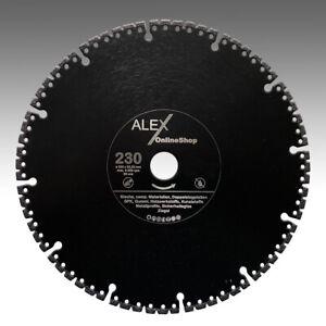 Diamant-Trennscheibe-115-400mm-Bleche-Gummi-Metallprofil-GFK-Sicherheits-Glas