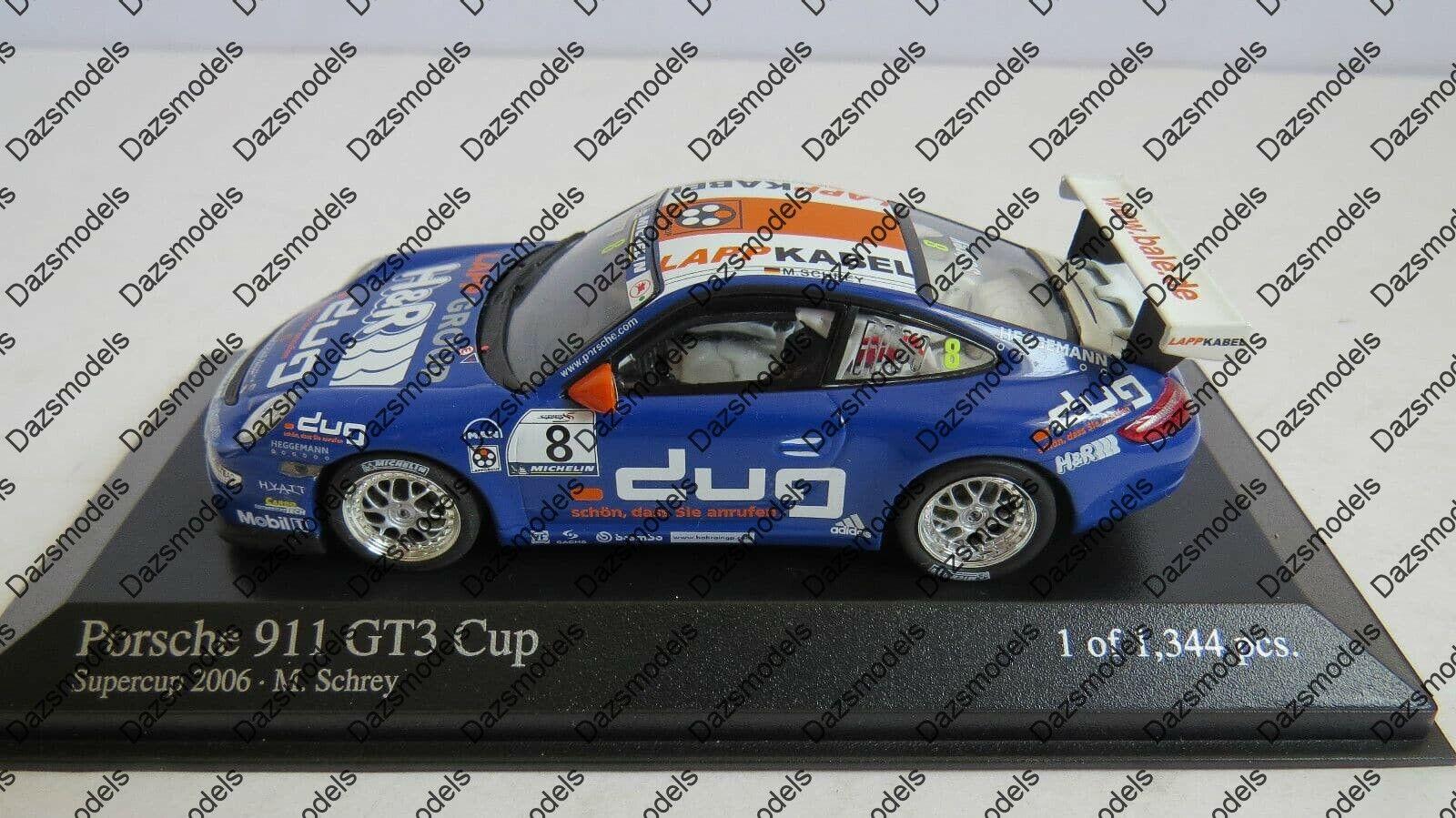 Minichamps porsche 911 GT3 cup Schrey 2006 066408   livraison gratuite!