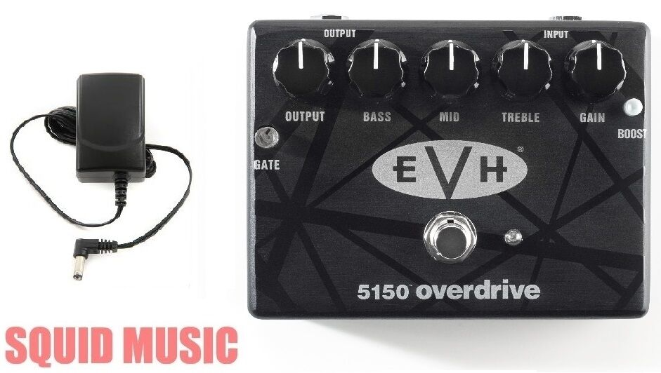 MXR Dunlop EVH 5150 Overdrive Pedal Eddie Van Halen ( FREE POWER SUPPLY ADAPTER)