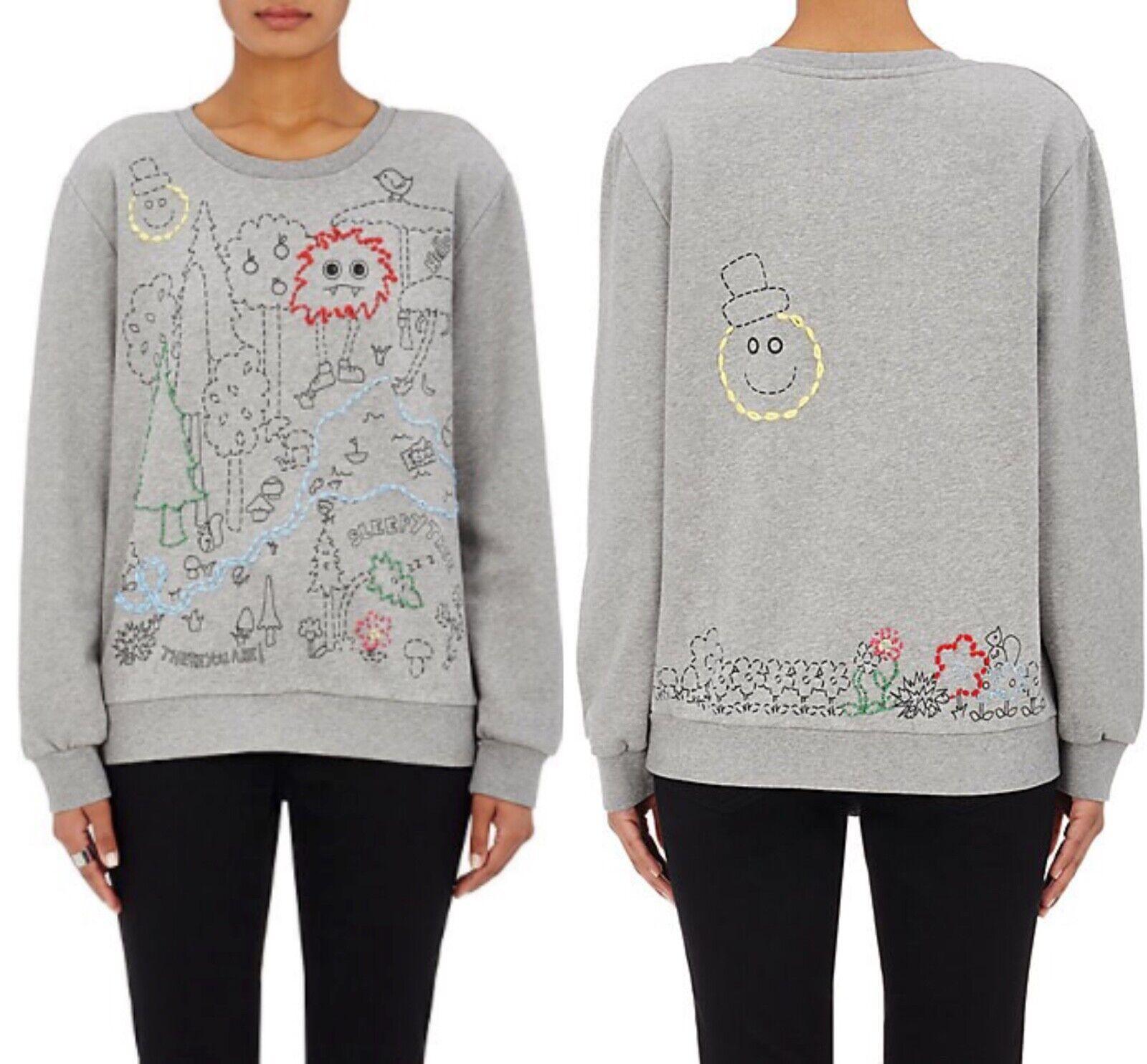 MIRA MIKATI MY LALALAND Embroiderot Sweater Sweatshirt, Größe 38  M