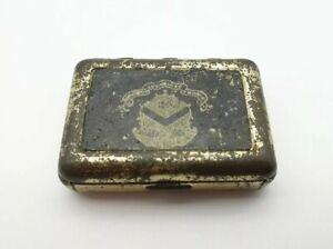 Vintage-Matchbox-Match-Holder-Case-Shield-Emblem