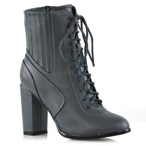 New Women/'s Knee High Ladies Smart Boots Block Mid High Heel Winter Biker Shoes