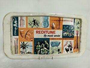 RARE-original-Reditune-tin-advertising-tray