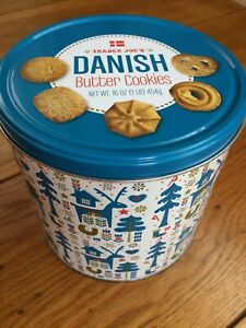 Details About Trader Joe S Danish Butter Cookies Christmas Holiday Empty Tin