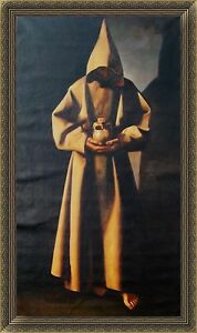 Francisco De Zurbaran Oil Painting Repro St Francis Of Assisi In His