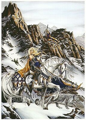 Nene Thomas Print 5x7 Lithograph Fortitude Brodamante Horse Knight Fairy Unicorn