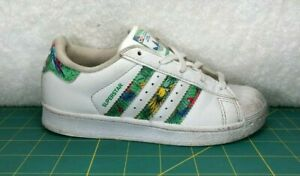 Details about Adidas Superstar Hawaii Aloha Print White Leather Shoes Sneakers~Toddler Sz 12K