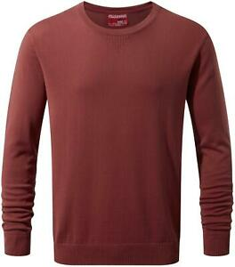 Confiant Craghoppers Homme Nosilife Berkley Casual Medium Crew Pull Carmine Red-afficher Le Titre D'origine