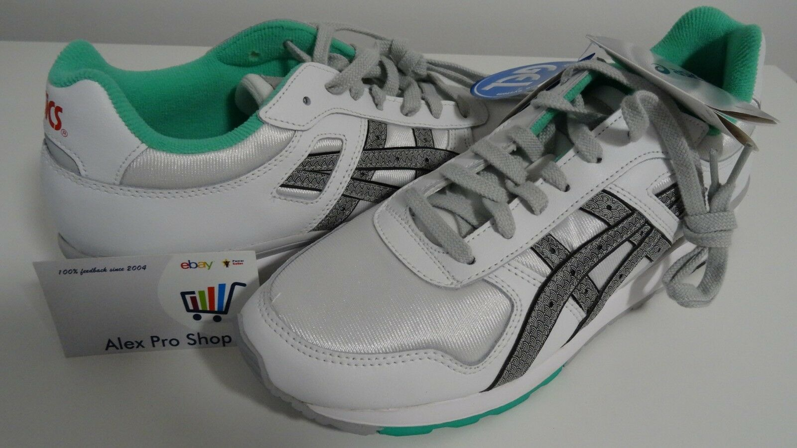 New Men's Size 10 Asics GT-II White Soft Grey H407N