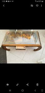 Coffee-Table-Antique-Oriental-Asian-Hand-Carved-Hardwood-Glass-Top