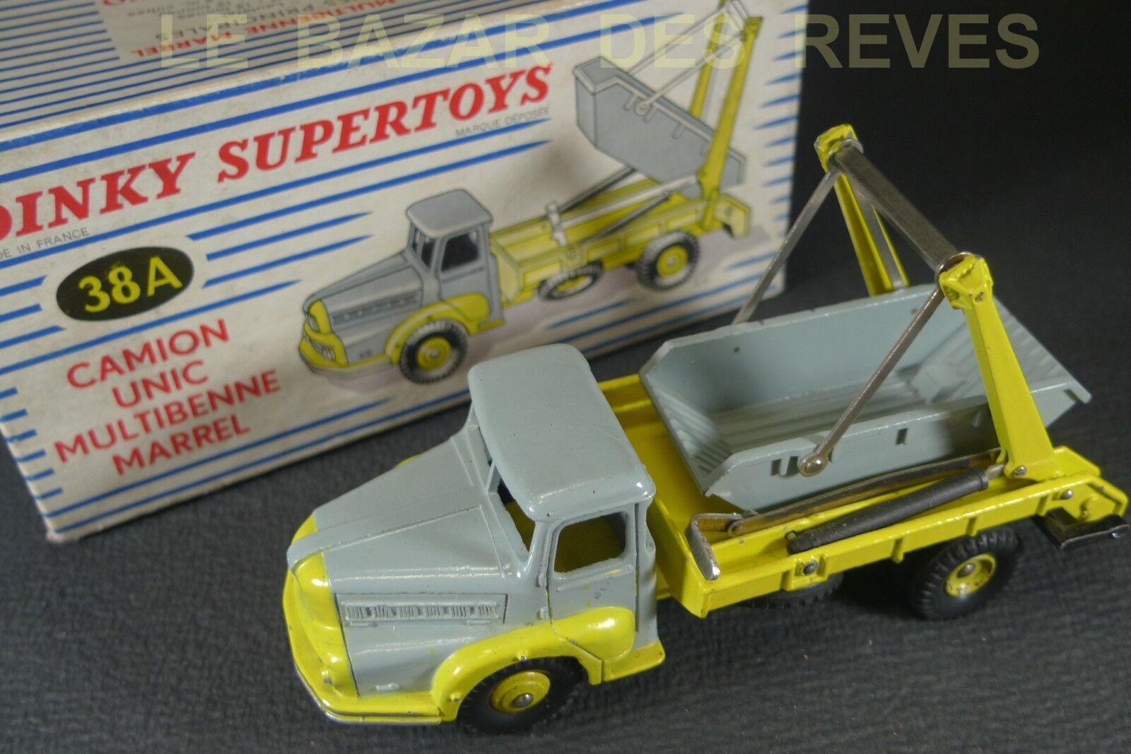 Dinky toys france. unic multibenne marrel ref  38 a + box (lot4)