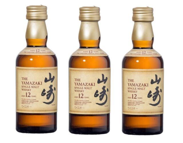 Suntory Yamazaki 12 Year Old Japanese Whisky 3 x 50ml Glass Miniature