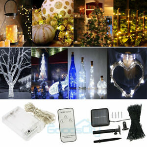30-50-100-LED-String-Copper-Wire-Fairy-Lights-Battery-Powered-Waterproof-amp-Remote