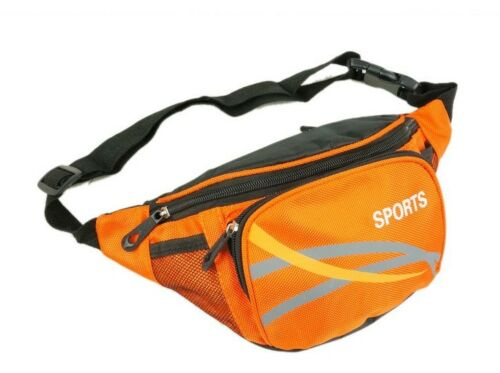 Mens Canvas Waist//Bum Bag By Sport New And Sealed Orange In Colour