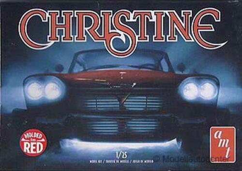 "Plymouth Fury 1958 /""Christine/"" rot Kunststoffbausatz Modellauto 1:25 AMT"