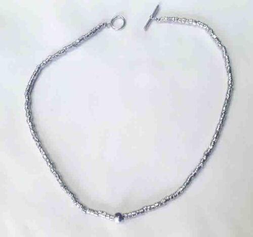 Collana Argento 925 stile Dodo pepite granelli rodiato gioielli uomo donna