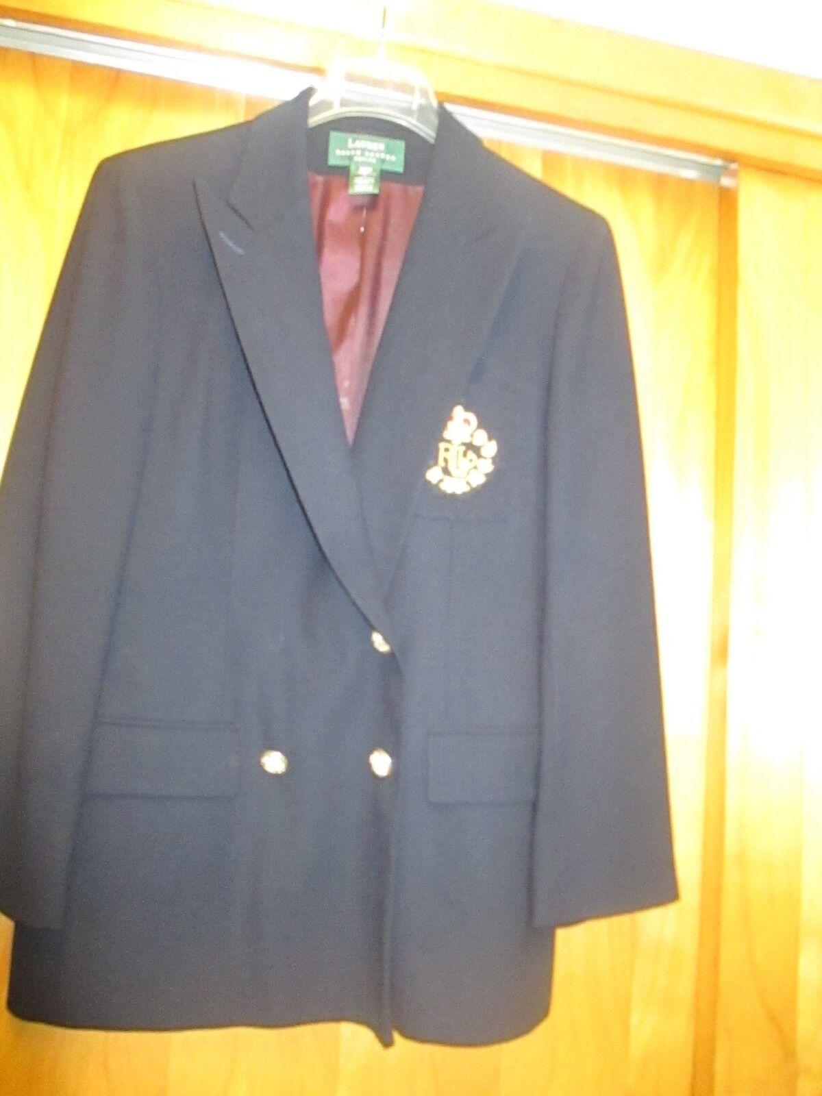 Ralph lauren ladies navy classic blazer 12P