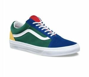Details about Vans Old Skool Yacht Club Yellow Blue Green and Red Colorblocked Color Blocked