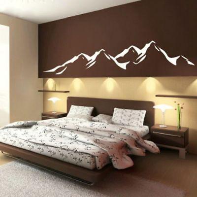 Mountain Landscape Living Room Bedroom Wall Art Vinyl Decal Sticker V186