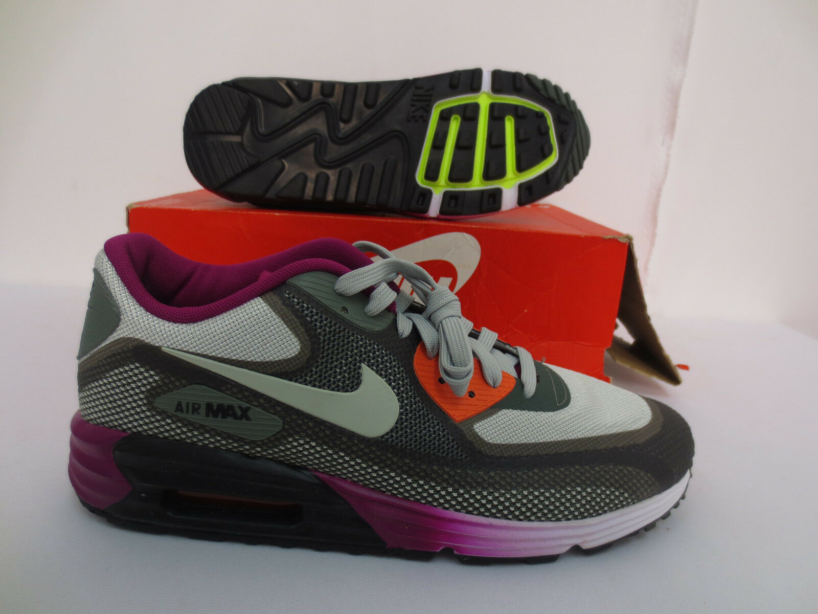 WMNS NIKE AIR MAX LUNAR90 C3.0 SIZE 12 RUNNING WORKOUT SHOES GYM 631762 003 NEW