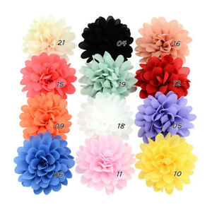 12PCS-Baby-Girls-Bows-Chiffon-Flower-Hair-Clip-Girls-Toddler-Babies-Hairpin