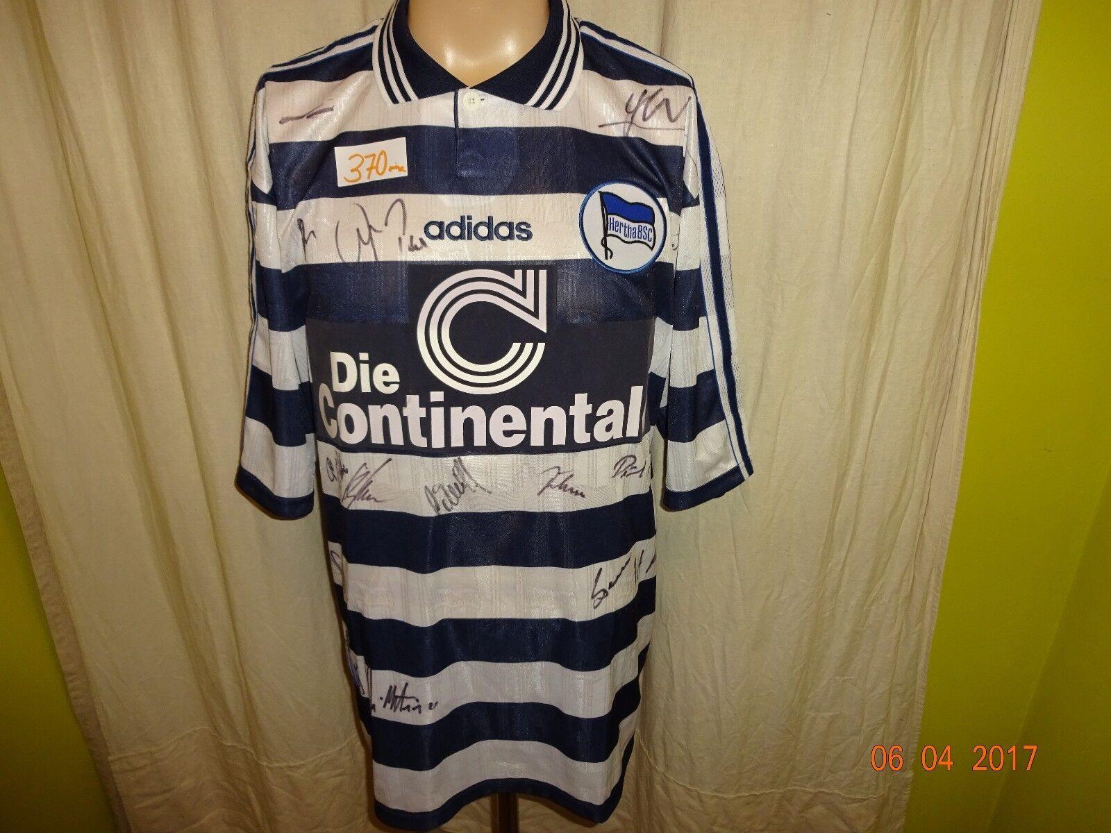 Hertha BSC Berlin Adidas Trikot 1997 98  Die Continentale  + Signiert Gr.XL Neu  | Spezielle Funktion