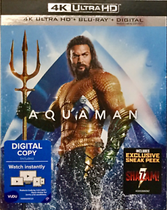 Details about AUTHENTIC AQUAMAN 4K ULTRA HD BLU-RAY WITH DIGITAL CODE AND  SLIPCOVER BRAND NEW
