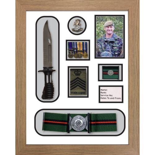 cap badge belt/&beret cap war medal display frame Yorkshire Regiment Medal Frame