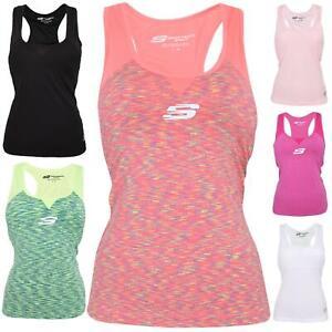 Skechers-senoras-Sujetador-Deportivo-Gimnasio-Atletico-textura-de-malla-Top-Yoga-Chaleco-Active-Wear