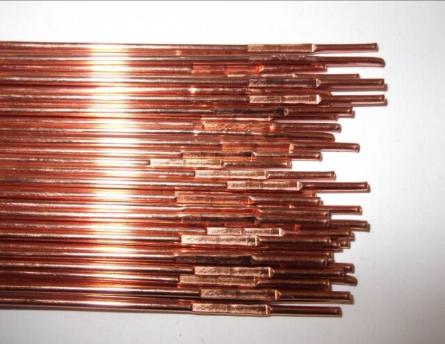 20 x 660mm Gas Welding Rods Copper Coated 2.4mm