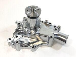 1970-82-Small-Block-Ford-High-Volume-Aluminum-Water-Pump-351C-351M-400M-Chrome