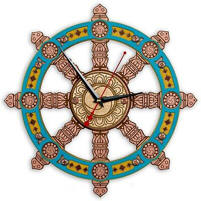 Dharma Chakra Wall ClockWheel of Dharma Handcrafted wooden Unique Home decor