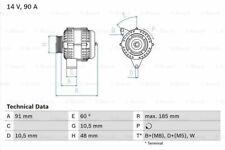 Alternator fits MERCEDES ML430 W163 4.3 98 to 02 M113.942 NAPA Quality New