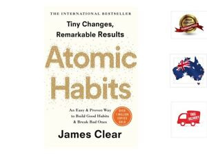 Atomic-Habits-by-James-Clear-Tiny-Changes-Remarkable-Results-Paperback-Book