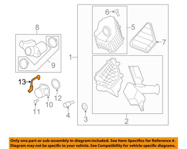 2009-2011 ACADIA TRAVERSE ENCLAVE 3.6 FRESH AIR PCV TUBE HOSE NEW GM # 12630279