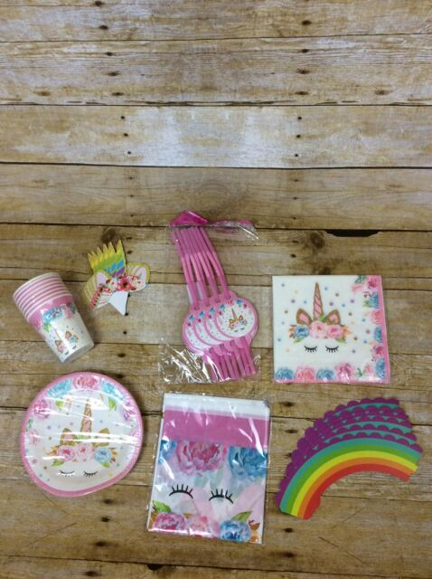 Unicorn Party Supplies 69 Pack Decoration Cup Cakes