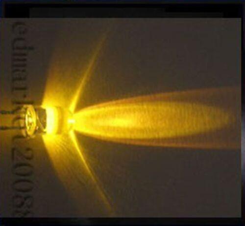 100Pcs 3mm Yellow Round Led 5000mcd Super Bright Led Lamp