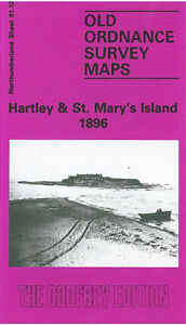 OLD ORDNANCE SURVEY MAP HARTLEY ST MARYS ISLAND 1896 SEATON BURN CULVERT INN