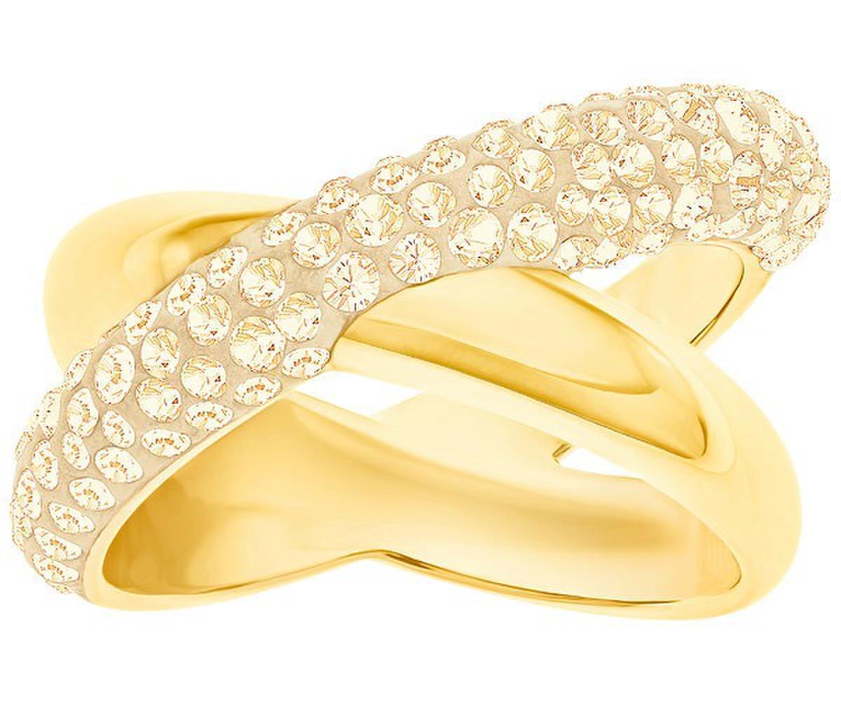 Swarovski Crystaldust Anillo Cruz gold Gr.52 Nuevo
