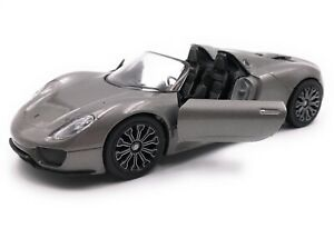 Voiture-miniature-PORSCHE-918-hypervoiture-Voiture-de-sport-voiture-echelle-1-34-39-LGPL