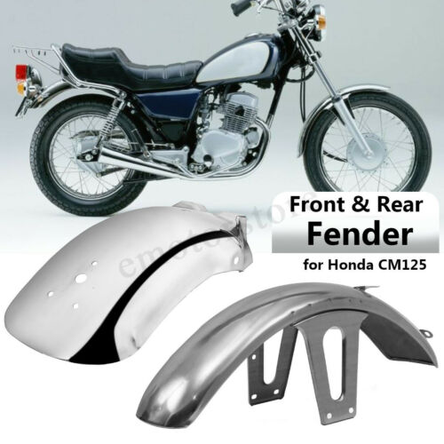 Stainless Steel Front Rear Mud Guard Mudguard Fender For Honda CM125 Motorcycle